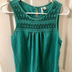 ELLE Turquoise Sleeveless Blouse